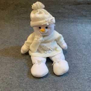Plush Snowman With Sparkle Sweater & Hat